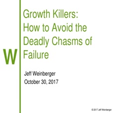Growth Killers: How to Avoid the Deadly Chasms of Failure