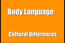 Body Language: Cultural Differences