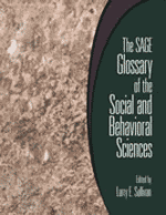 The SAGE Glossary of the Social and Behavioral Sciences