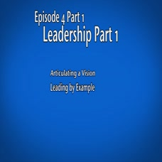 Leader's Changing Role and Leadership Skills