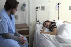 Admission of Patient With Depression: Crying