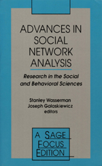 Advances in Social Network Analysis: Research in the Social and Behavioral Sciences