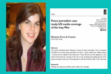 Peace Journalism Case Study - US Coverage