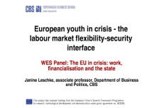 European Youth in Crisis: The Labor Market Flexibility-Security Interface
